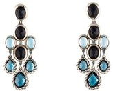 David Yurman Topaz, Quartz & Hematine Chandelier Earrings