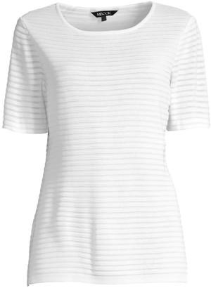 Misook Textured Striped Sweater