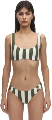 Solid & Striped Elle Safari Striped Lycra Bikini Top