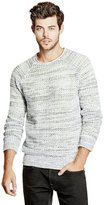 GUESS Men's Mesh Stitch Pullover Sweater