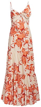 Johanna Ortiz Corazon Pacifico Floral Tiered Dress