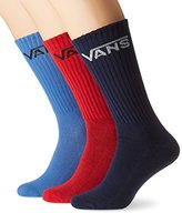 Vans Vans_Apparel Men's Classic Crew (9.5-13, 3Pk) Socks,One Size