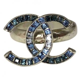 Chanel CC Blue Metal Rings