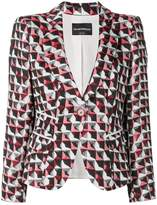 Emporio Armani printed fitted jacket