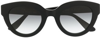Emmanuelle Khanh Cat-Eye Tinted Sunglasses