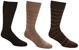 Roundtree & Yorke Gold Label Big & Tall Crew Socks 3-Pack