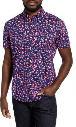 Bonobos Slim Fit Floral Short Sleeve Button-Down Shirt