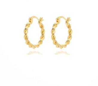 Coco Mango Jewellery Harper Twisted Hoop Earrings
