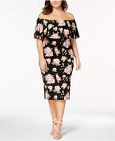 Almost Famous Trendy Plus Size Off-The-Shoulder Bodycon Dress
