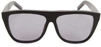 Saint Laurent 59MM New Wave Rectangular Sunglasses