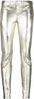 Faith Connexion high shine skinny trousers - women - Lamb Skin - 8