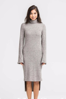 Lush Turtle Neck Sheath Dress