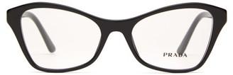 Prada Cat-eye Acetate Glasses - Womens - Black