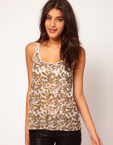 ASOS Tank With Floral Beading