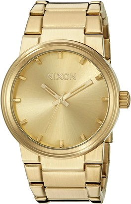 Nixon Cannon A160. 100m Water Resistant Mens Watch (39.5 mm Gold Watch Face/ 26-23 mm Gold Stainless Steel Band)