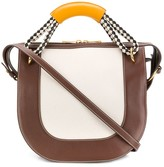 Marni Bonnie diamond-pattern handle handbag