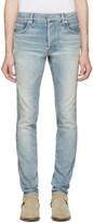 Balmain Blue Ribbed Jeans