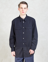 3.1 Phillip Lim Paneled Tail Military Shirt
