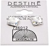 Crystallite Destine Multiple Edge Crystal Earrings