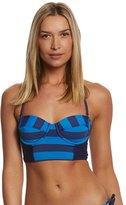 Splendid Marcel Stripe Underwire Bustier Bikini Top 8116968