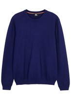 Ps By Paul Smith Ps By Paul Smith Blue Textured-knit Cotton Jumper
