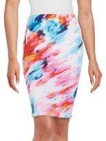 Saks Fifth Avenue RED Fitted Printed Skirt
