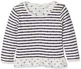 Tom Tailor Kids Baby Girls' Striped T-Shirt with Volant Long Sleeve Top, Blue (Cosmos Blue 14)