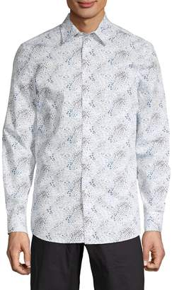 Perry Ellis Slim-Fit Printed Shirt