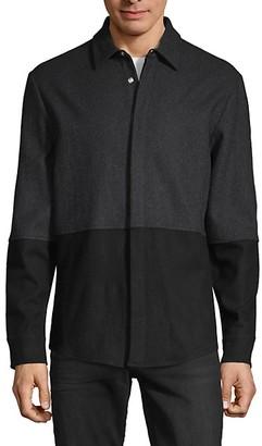 Karl Lagerfeld Paris Colorblock Wool-Blend Jacket