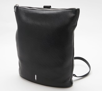 THACKER Pebble Leather Backpack with Ring Detail - Brit