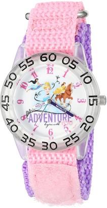 Disney Girl's 'Cinderella' Quartz Plastic and Nylon Watch