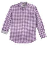 Thomas Dean Boy's Geo Check Dress Shirt