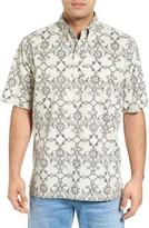 Reyn Spooner Men's Aloha Nouveau Classic Fit Short Sleeve Print Sport Shirt