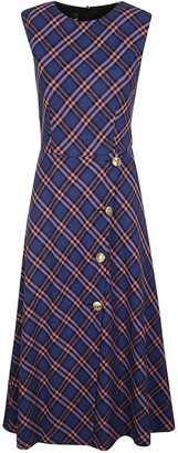 Moschino Tartan Print Sleeveless Dress