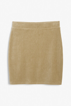 Monki Velvet mini skirt