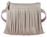 Deb & Dave Girls' Fringe Belt Bag with Cross Body Strap - Gray and Pink