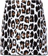 Sonia Rykiel leopard print skirt - women - Cotton/Polyamide/Viscose - M