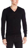 Vivienne Westwood Men's Diamond Repair V-Neck Sweater