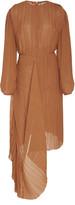 Preen by Thornton Bregazzi Glenda Draped Plisse-Georgette Midi Dress