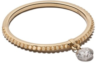 Raphaele Canot 18kt yellow gold Set Free Diamond beaded ring