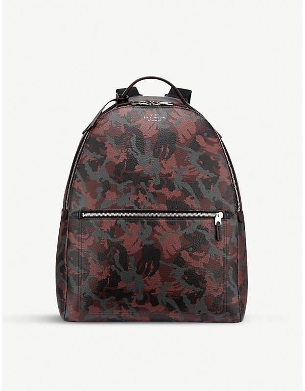 Smythson Burlington zipped leather backpack