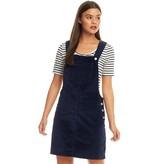 Brave Soul Womens Alexa Corduroy Dungaree Dress Navy