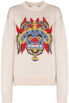 Kirin graphic print jacquard sweater