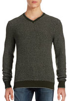 Hudson North Textured V-Neck Sweater
