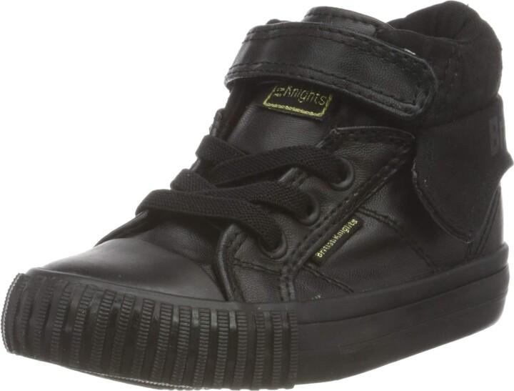 British Knights Roco PU Infants Hi Tops Girls Shoes Footwear