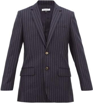 Bella Freud Allen Chalk-striped Single-breasted Wool Blazer - Navy Stripe