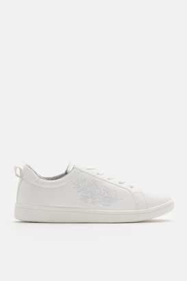 Ardene Floral Embroidered Sneakers