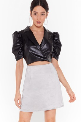Nasty Gal Womens Smooth That Out Satin High-Waisted Mini Skirt - black - 6