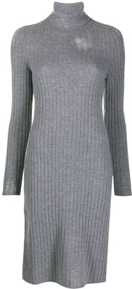 Maison Margiela Distressed Rib-Knit Dress