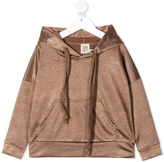 Caffe' D'orzo Long Sleeve Drawstring Hoodie